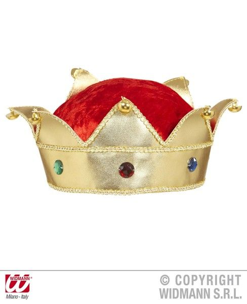 King & Queen Crowns With Gems Middle Ages Royal Ruler Fairytale Fancy Dress