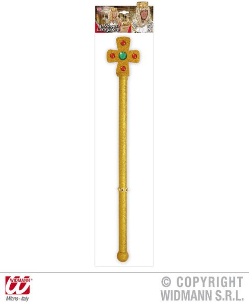 King Queen Scepters 54cm Middle Ages Royal Ruler Fairytale Plastic Novelty Toy