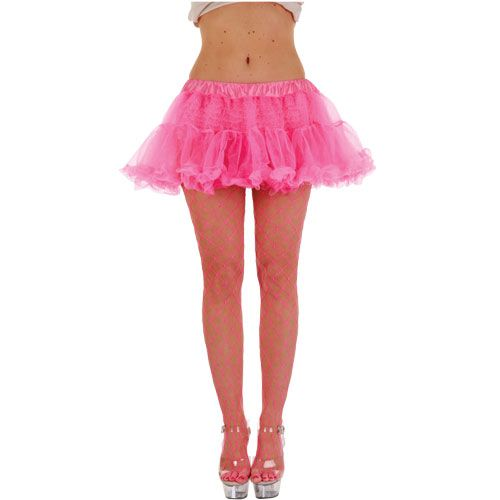 Ladies 12 Ruffle Tutu 50s Rock n Roll Womens Fancy Dress