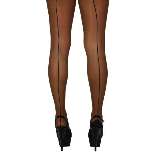 Ladies 15d Tights with Back Seam Outfit Accessory for Lingerie Fancy Dress Women Natural