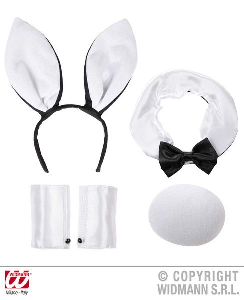 Ladies Bunny Sets White/Black Costume Easter Rabbit Magician Fancy Dress Cosplay Outfit