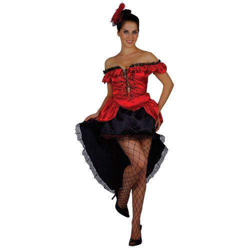 Ladies Burlesque Saloon Girl Costume for Cowboys Indians Fancy Dress Womens
