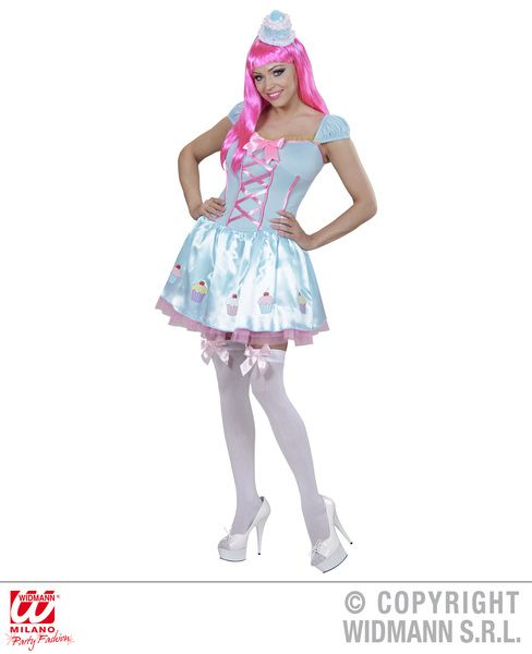 Ladies Candy Girl Costume Fairytale Story Book Alice Fancy Dress Cosplay Outfit