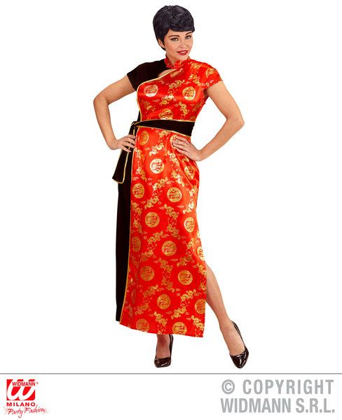 Ladies China Girl Costume Oriental Chinese Mandarin Eastern Fancy Dress Cosplay