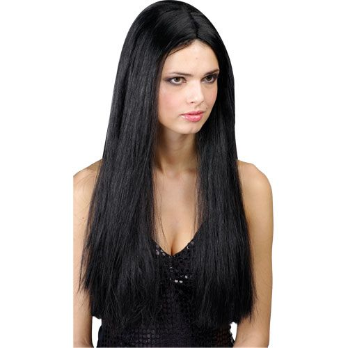 Ladies Classic Long Wig Outfit Accessory for 60s 70s Fancy Dress Womens