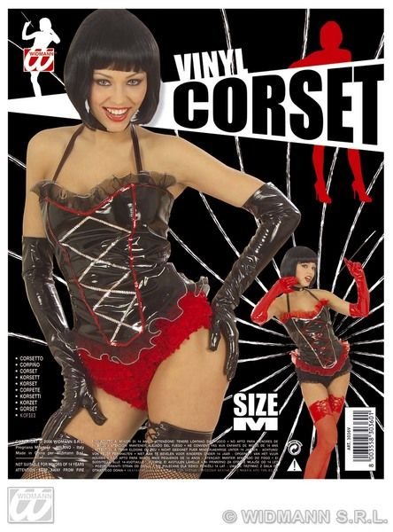 Ladies Corset Vinyl 2 Colours Sexy Erotic Sissy Cosplay Fancy Dress