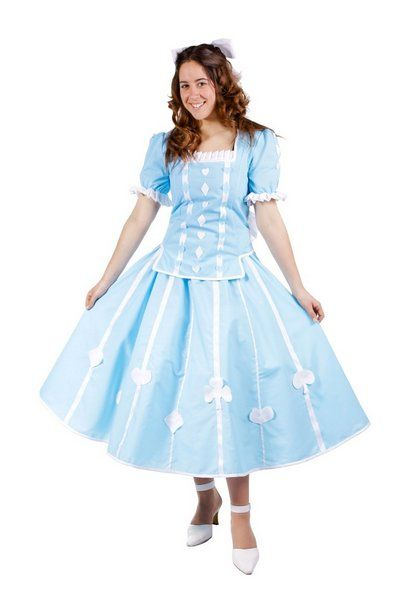 Ladies Costume Alice in Wonderland Medium for Fairytale Cosplay Outfit