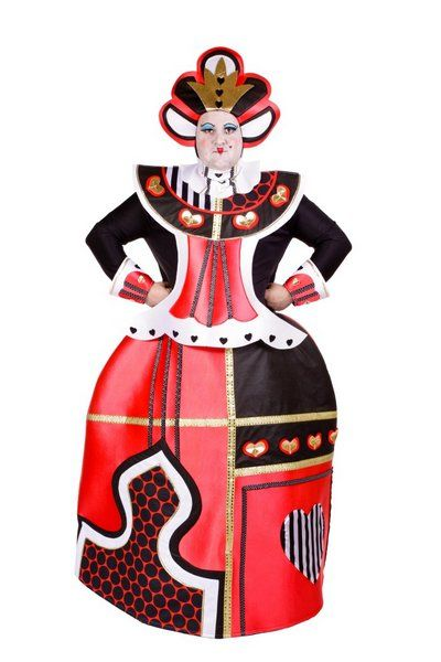 Ladies Costume Queen of Hearts for Cross Dress Royal Ruler Majesty