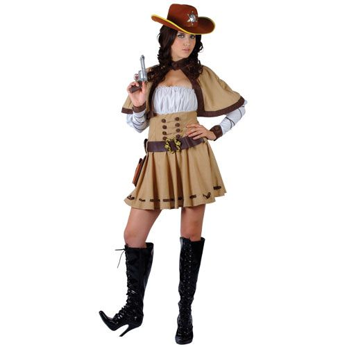 Ladies Cowgirl Sherriff Costume for Cowboys Indians Fancy Dress Womens