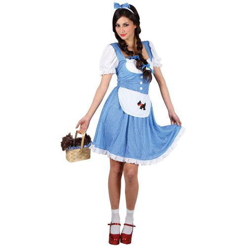Ladies Darlin' Dorothy Costume for Fairytales Fancy Dress Womens