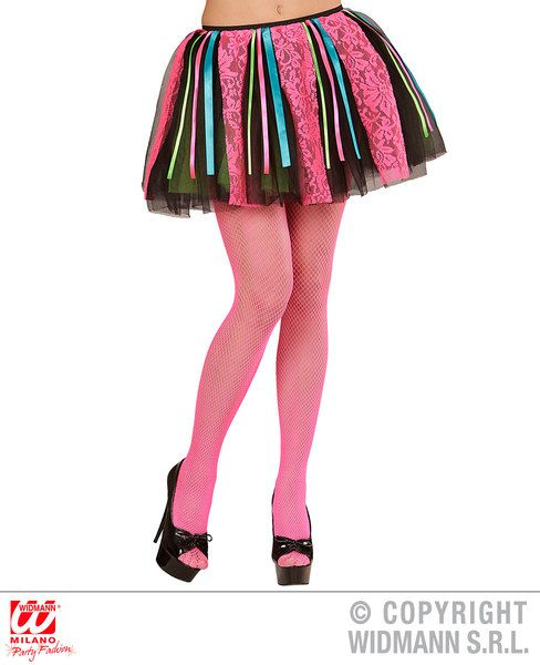 Ladies Deluxe Tutu W/ Satin Ribbon Trim 70s Music Pop Travolta Boogie Nights