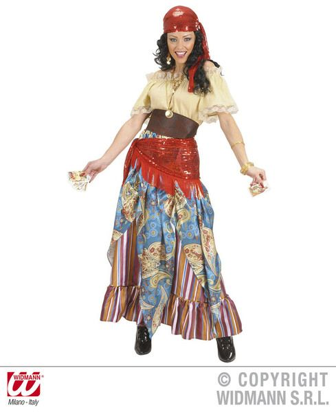 Ladies Fortune Teller Costume Carnival Circus Fortune Reader Gypsy Tarot