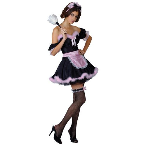Ladies French Maid Costume for France Fancy Dress Womens