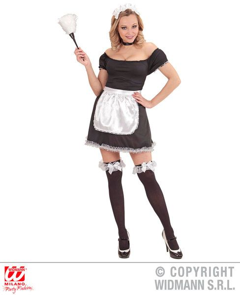 Ladies French Maid Costume France Frenchmen Fancy Dress Cosplay