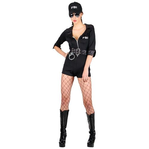 Ladies Frisky Body Inspector Costume for Sexy Fancy Dress Womens