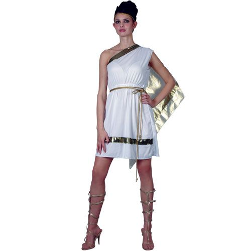 Ladies Greek Goddess Costume for Ancient Historic Fancy Dress Womens
