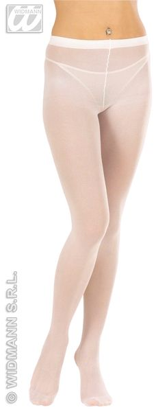 Ladies Pantyhose White Lingerie Nylons Fancy Dress