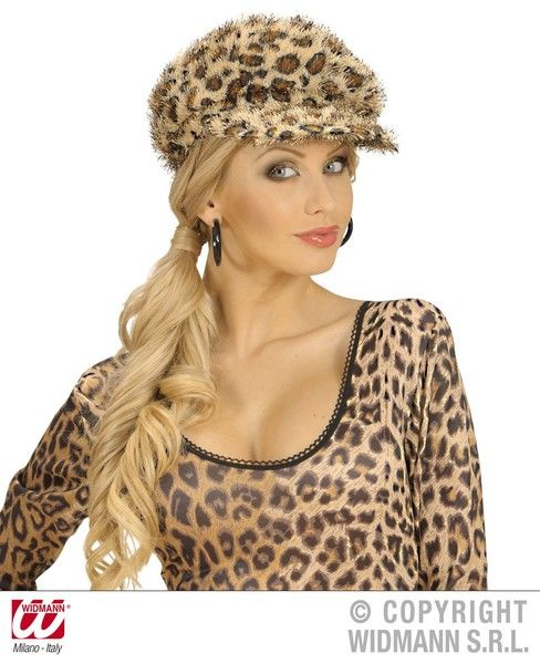 Leopard Cap Hat Wild Animal Zoo Indian African Big Cat Fancy Dress