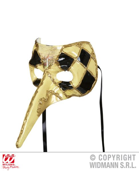 Long Nose Venetian Mask Chequered 15th 16th 17th Century Renaissance Fancy Dress