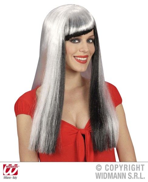 Long White Cheryl Wig Fancy Dress Cosplay Outfit Accessory