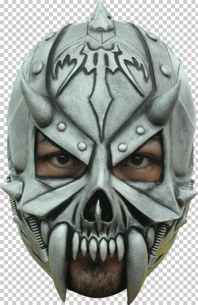 Mask Head Warrior Death Prophet Guillotine Halloween Zombie Body Prop