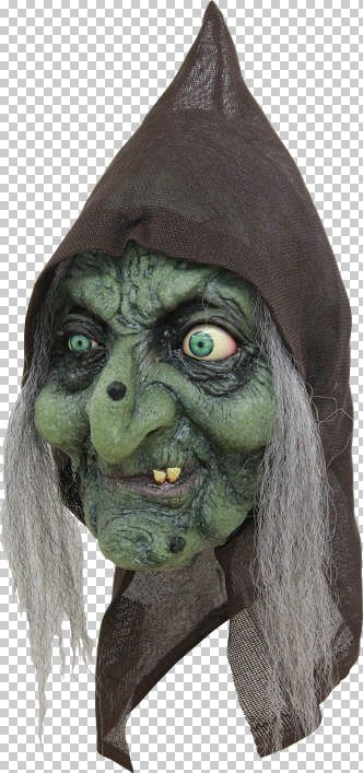 Mask Head Witch Old Hag Guillotine Headless Beheaded Halloween Zombie Body Prop
