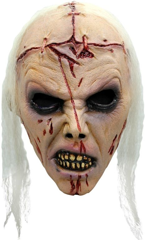 Mask Head Zombie Lobotomy Guillotine Halloween Zombie Body Prop