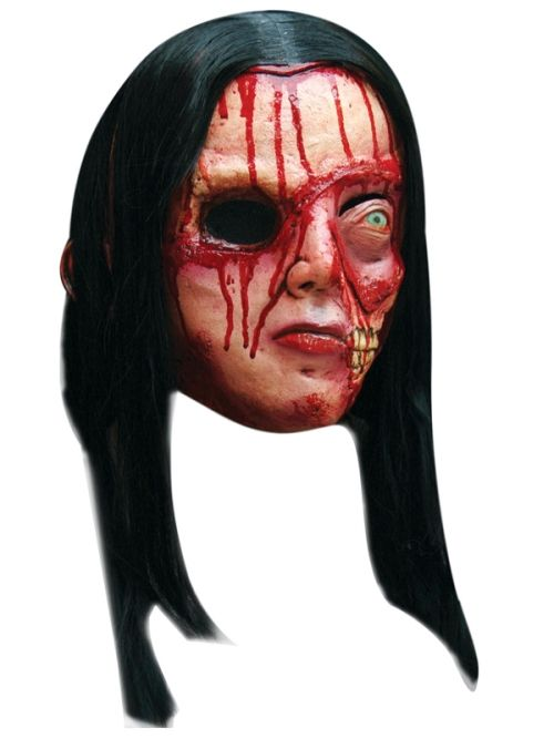 Mask Head Zombie Pretty Woman Guillotine Halloween Zombie Body Prop