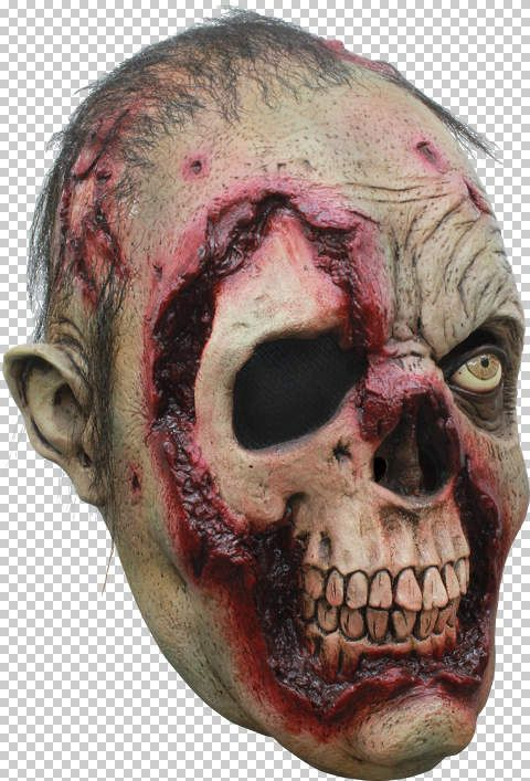 Mask Head Zombie Putrid Guillotine Headless Beheaded Halloween Zombie Body Prop