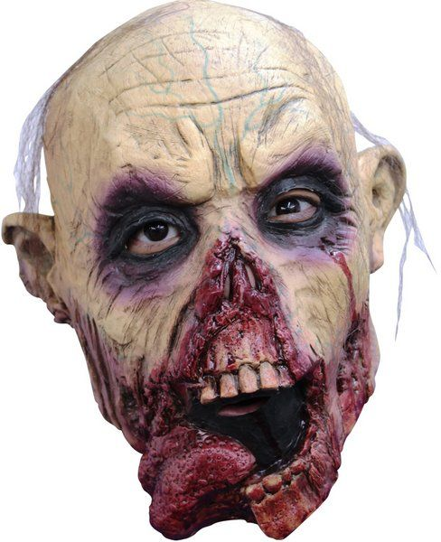 Mask Head Zombie Tongue Junior Guillotine Halloween Zombie Body Prop