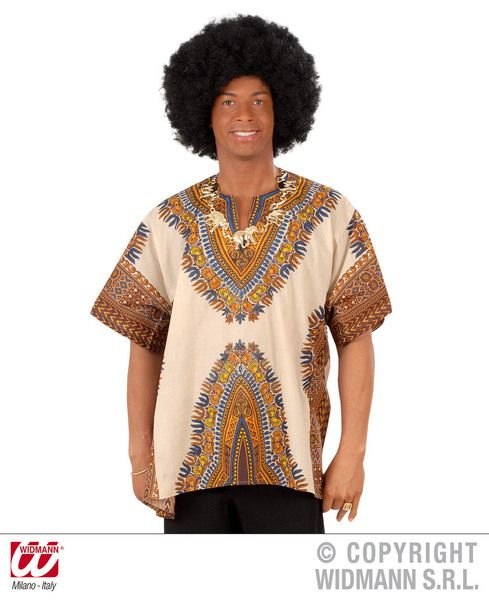 Mens African Shirt Size Africa Fancy Dress Outfit