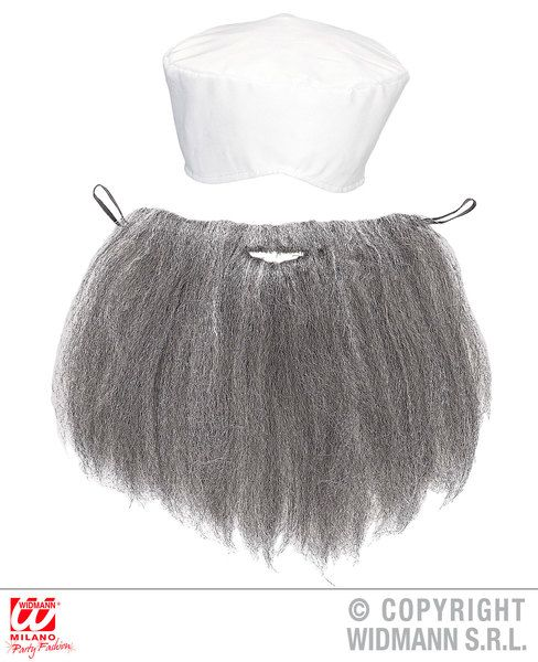 Mens Arab Turban & Beard Hat Middle East Sultan Prince Aladdin Fancy Dress