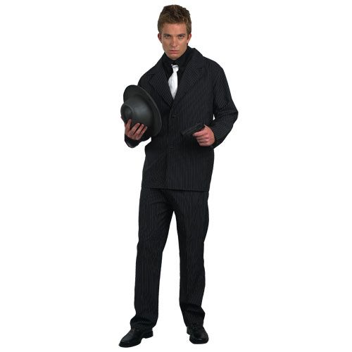 Mens Chicago Gangster Costume for 20s 30s Gangsters Molls Fancy Dress Mans Male