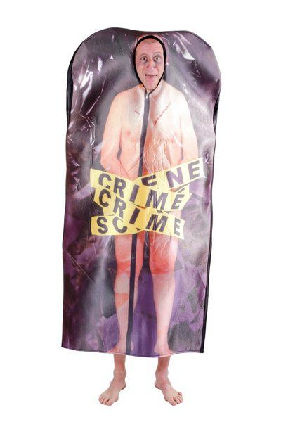 Mens Costume Corpse Cadaver in a Bag TWD Zombie Halloween