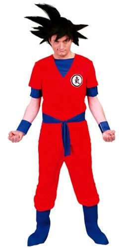 Mens Costume Dragon Ball Z Fancy Dress for Goku Superhero TV & Film Outfit Large