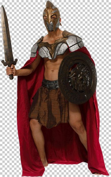 Mens Costume & Mask Knight Gardian Crusades St George King Arthur Medieval