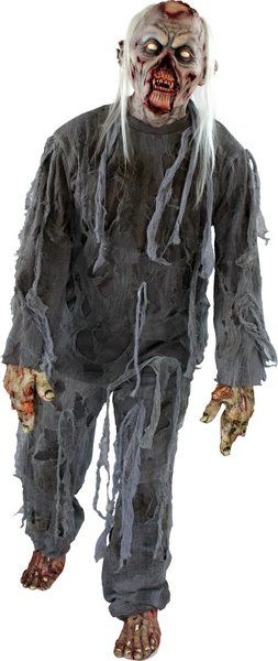 Mens Costume & Mask Rotting Zombie Halloween Walking Dead Trick Or Treat