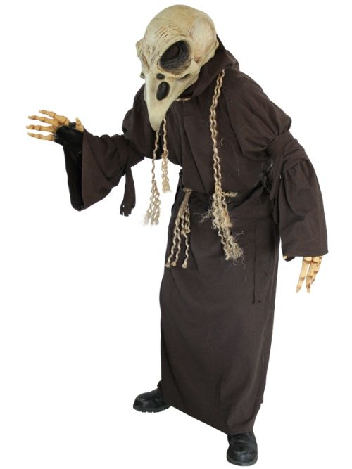 Mens Costume Only Skull Crow for Halloween Cosplay Outfit
