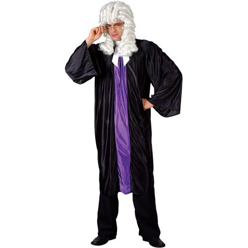 Mens High Court Judge Costume Qc Lawyer Judge Barrister Law Legal Fancy Dress