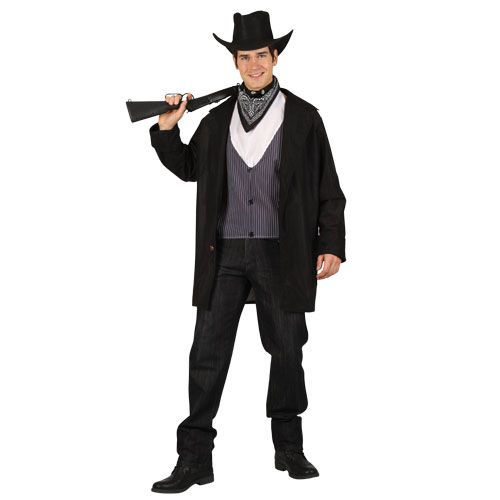 Mens High Noon Cowboy Costume for Wild West Fancy Dress Mans Male