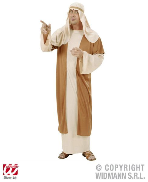 Mens Joseph Costume Mary'S Husband Christmas Nativity Jesus Fancy Dress Outfit
