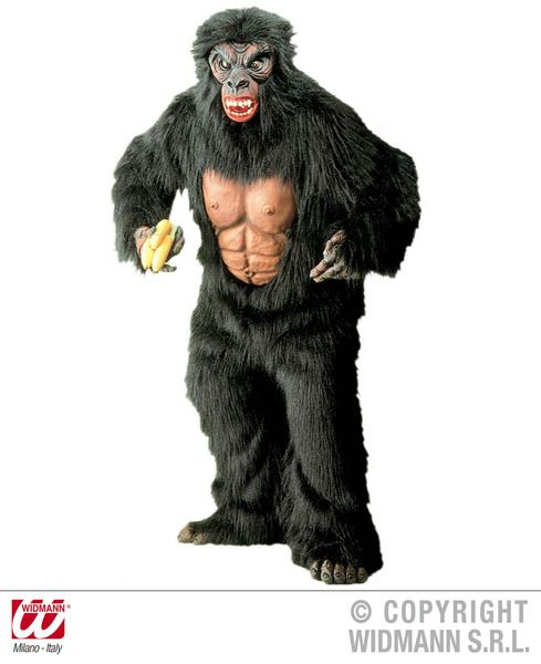 Mens King Kong Plush Costume Middle Ages Royal Ruler Fairytale Fancy Dress