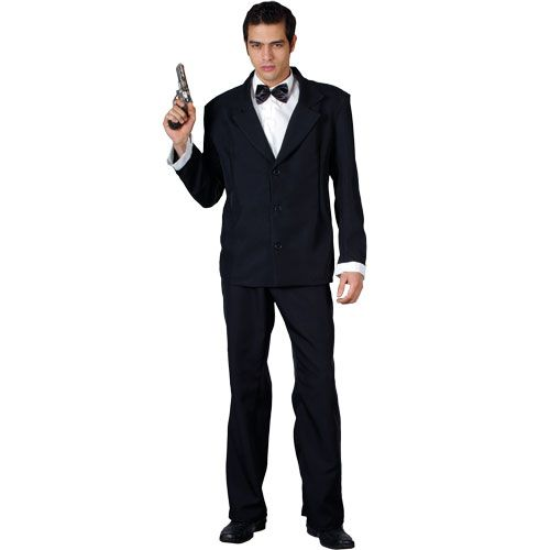Mens Licence to Kill Costume for Film TV Movies Fancy Dress Mans Male
