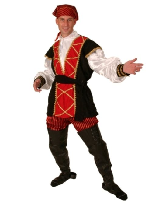 Mens Pirate Mates Costume 5 piece High Seas Buccaneer Hijacker Sailor
