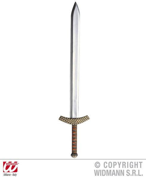 Metallic Crusader Sword 86cm St George Knight Medieval Plastic Novelty Toy