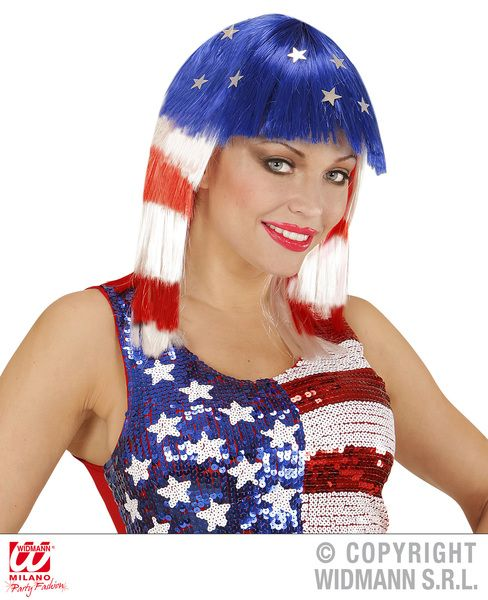 Miss America Wig United States Usa Fancy Dress
