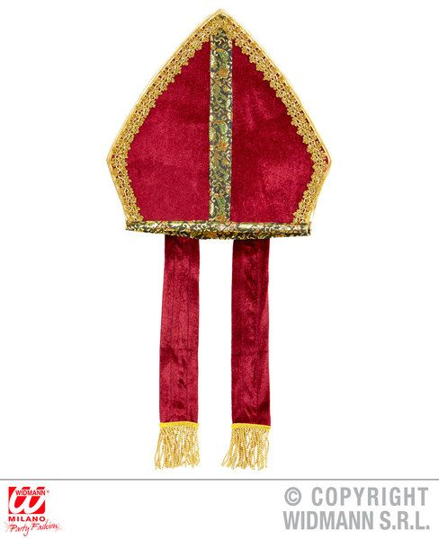 Mitre Hat Bishop Pope Father Priest Pope Fancy Dress Cosplay
