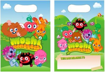 Moshi Monsters Party Loot Bag - 8s