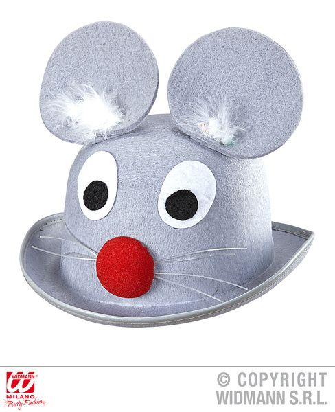 Mouse Bowler Hat Rodent Animal Creature Mammal Fancy Dress