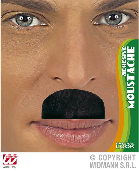 Moustache Chaplin Adhesive Black Hitler 30s 40s Fancy Dress
